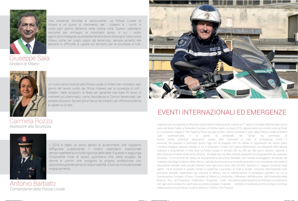 Gruppo sportivo e ricreativo della polizia locale di for Calendario eventi milano 2017