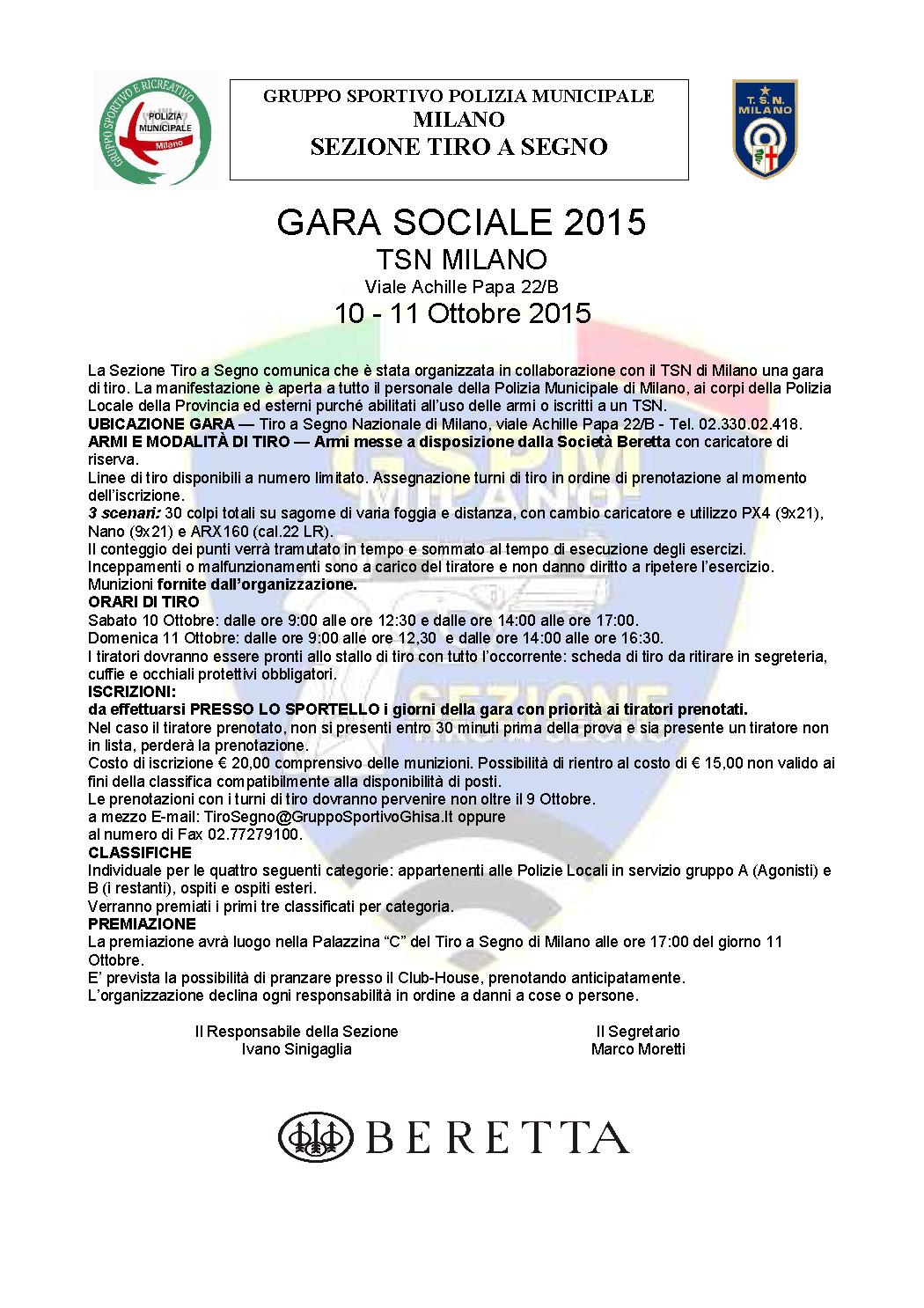 Gruppo Sportivo e Ricreativo della Polizia Locale di Milano - Gruppo ... 422f3c435196